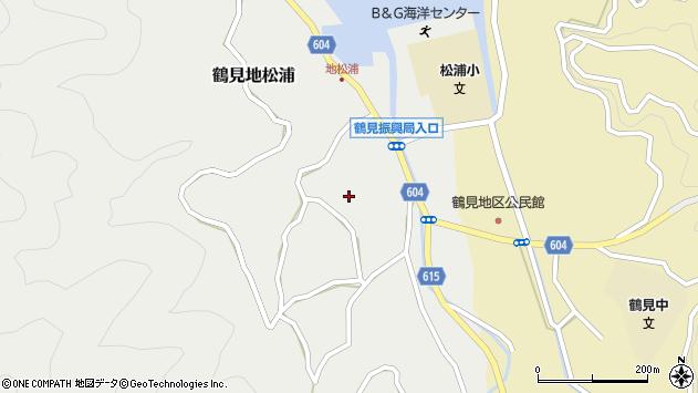 大分県佐伯市鶴見大字地松浦1300周辺の地図