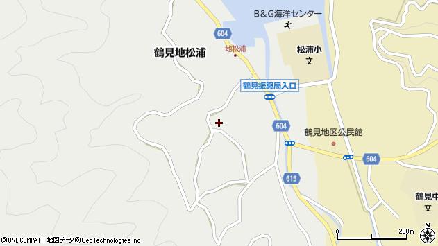 大分県佐伯市鶴見大字地松浦1120周辺の地図
