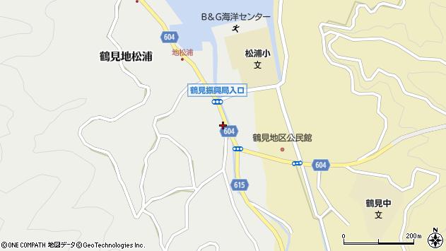 大分県佐伯市鶴見大字地松浦1344周辺の地図