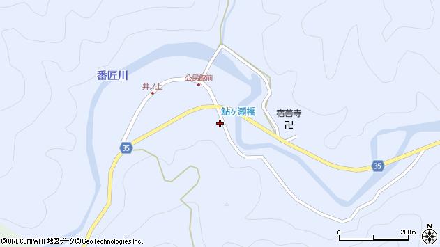 大分県佐伯市本匠大字井ノ上436周辺の地図