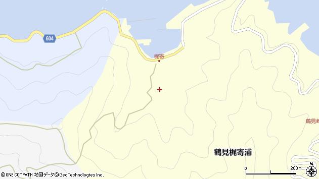 大分県佐伯市鶴見大字梶寄浦132周辺の地図