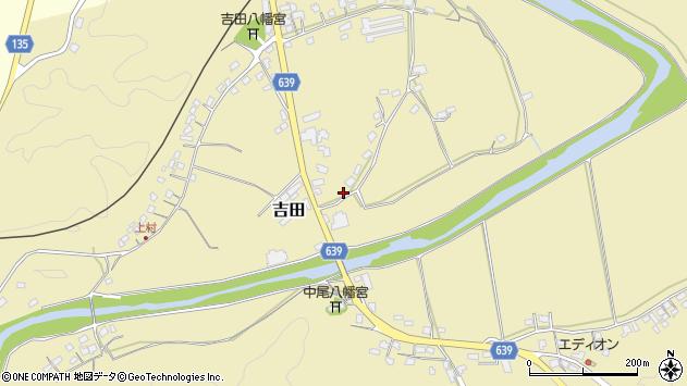 大分県竹田市吉田117周辺の地図