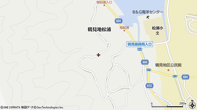 大分県佐伯市鶴見大字地松浦1036周辺の地図