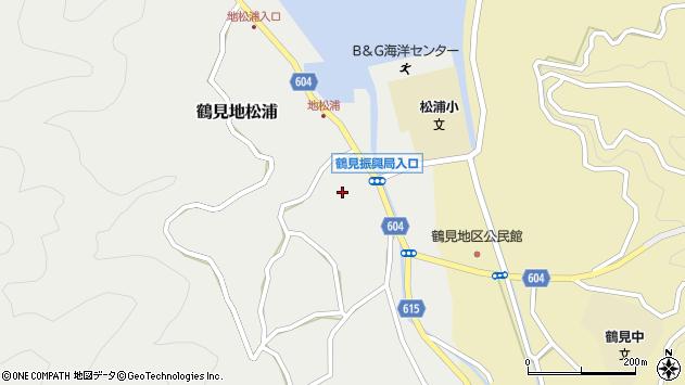 大分県佐伯市鶴見大字地松浦1070周辺の地図