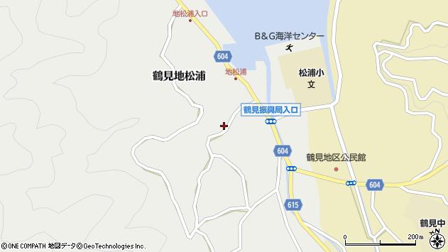大分県佐伯市鶴見大字地松浦1049周辺の地図