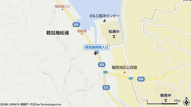 大分県佐伯市鶴見大字地松浦1351周辺の地図