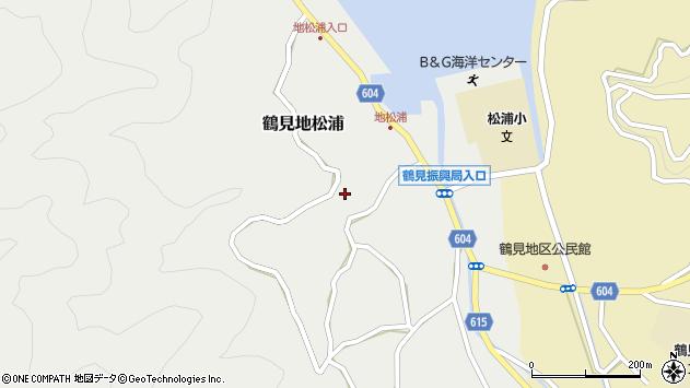 大分県佐伯市鶴見大字地松浦912周辺の地図