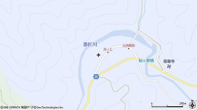 大分県佐伯市本匠大字井ノ上276周辺の地図