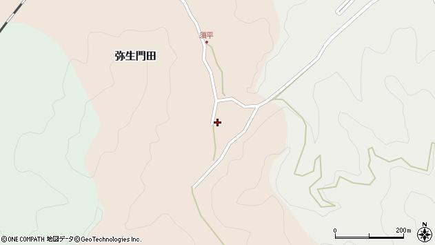 大分県佐伯市弥生大字門田513周辺の地図