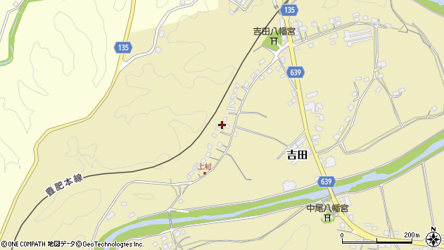 大分県竹田市吉田617周辺の地図