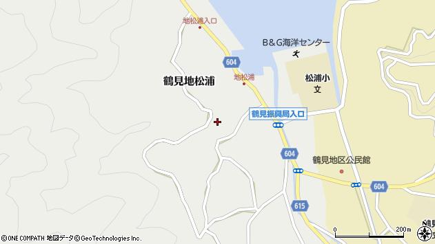 大分県佐伯市鶴見大字地松浦911周辺の地図