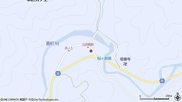 大分県佐伯市本匠大字井ノ上310周辺の地図