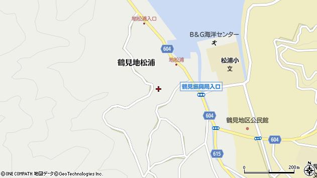 大分県佐伯市鶴見大字地松浦916周辺の地図
