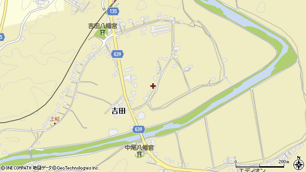 大分県竹田市吉田131周辺の地図