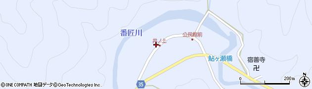 大分県佐伯市本匠大字井ノ上290周辺の地図