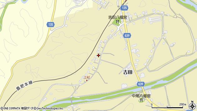 大分県竹田市吉田篠田周辺の地図