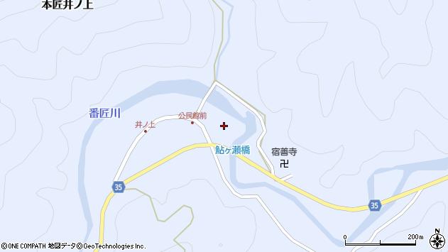 大分県佐伯市本匠大字井ノ上356周辺の地図
