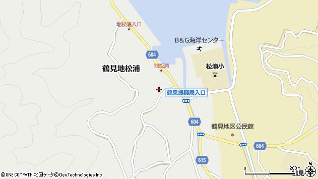 大分県佐伯市鶴見大字地松浦955周辺の地図