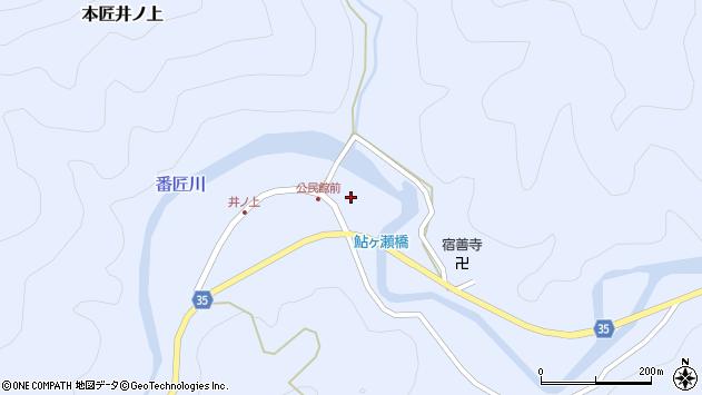 大分県佐伯市本匠大字井ノ上358周辺の地図