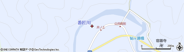 大分県佐伯市本匠大字井ノ上280周辺の地図