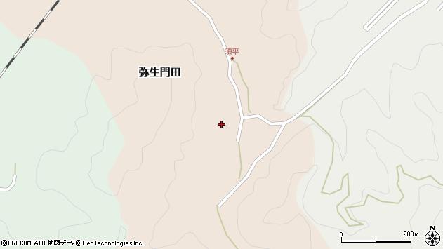 大分県佐伯市弥生大字門田287周辺の地図