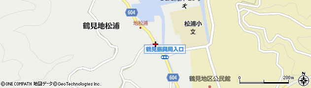大分県佐伯市鶴見大字地松浦1059周辺の地図