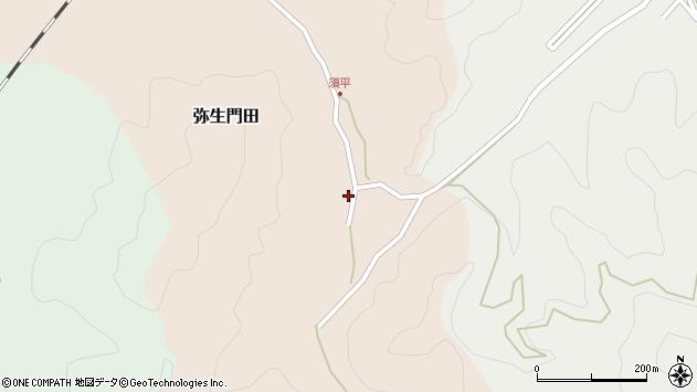 大分県佐伯市弥生大字門田520周辺の地図