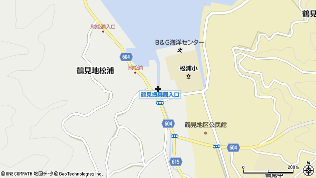大分県佐伯市鶴見大字地松浦1063周辺の地図