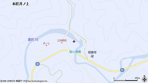 大分県佐伯市本匠大字井ノ上350周辺の地図