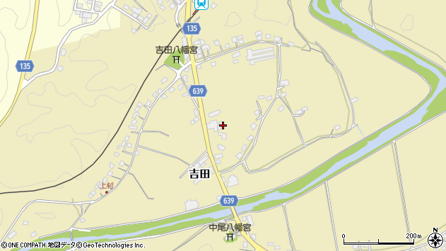 大分県竹田市吉田110周辺の地図