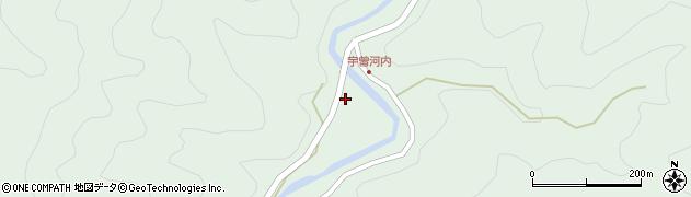 大分県佐伯市本匠大字因尾1491周辺の地図