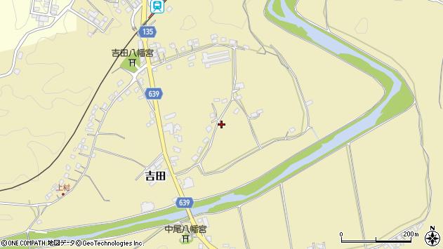 大分県竹田市吉田神楽岡周辺の地図