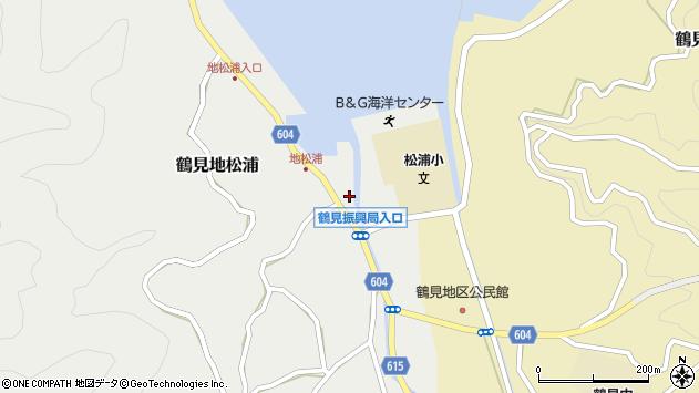 大分県佐伯市鶴見大字地松浦1062周辺の地図