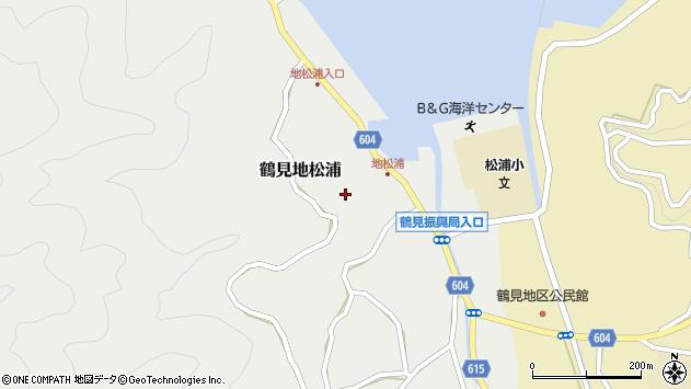 大分県佐伯市鶴見大字地松浦887周辺の地図