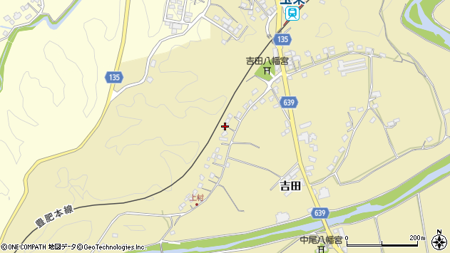 大分県竹田市吉田470周辺の地図