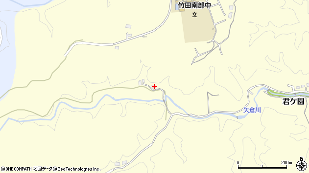 大分県竹田市君ケ園1933周辺の地図