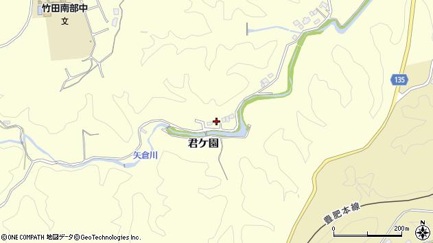 大分県竹田市君ケ園1401周辺の地図