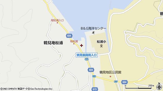 大分県佐伯市鶴見大字地松浦947周辺の地図