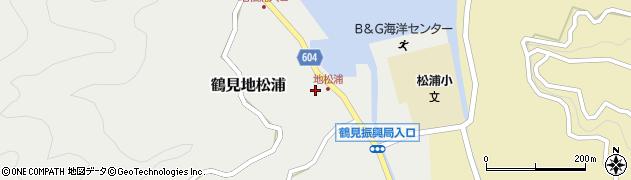 大分県佐伯市鶴見大字地松浦880周辺の地図