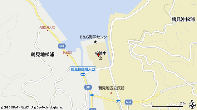 大分県佐伯市鶴見大字地松浦2044周辺の地図