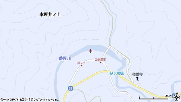 大分県佐伯市本匠大字井ノ上319周辺の地図
