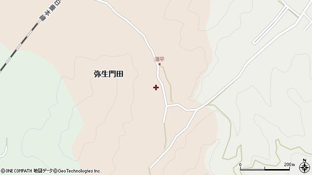 大分県佐伯市弥生大字門田533周辺の地図