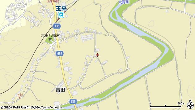 大分県竹田市吉田174周辺の地図