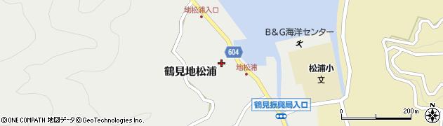 大分県佐伯市鶴見大字地松浦863周辺の地図
