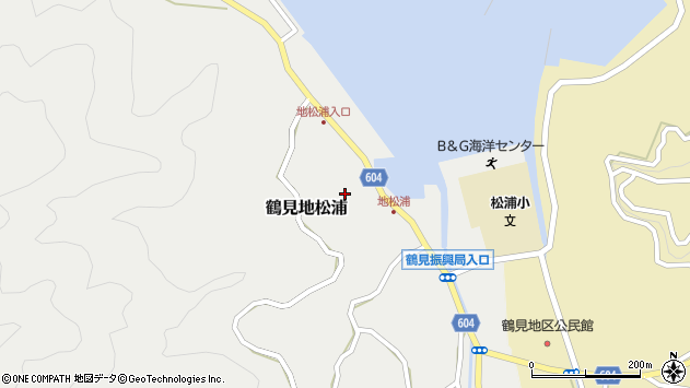 大分県佐伯市鶴見大字地松浦852周辺の地図