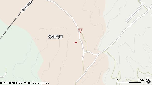 大分県佐伯市弥生大字門田269周辺の地図