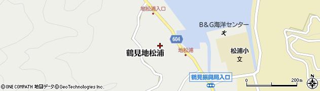 大分県佐伯市鶴見大字地松浦853周辺の地図