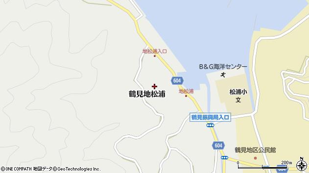 大分県佐伯市鶴見大字地松浦588周辺の地図
