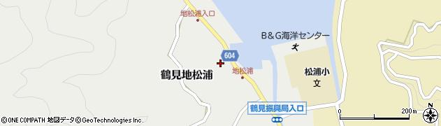 大分県佐伯市鶴見大字地松浦862周辺の地図