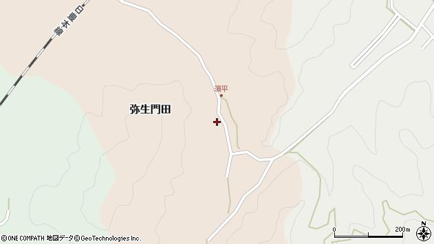 大分県佐伯市弥生大字門田536周辺の地図